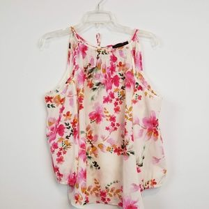 Sanctuary cold shoulder floral blouse size small